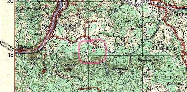 pozicija rudnika Pečovnik