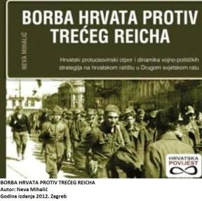 Sa zanimanjem sam pročitao ovo djelo. Ne događa se svaki dan da vam nešto otvara obzorja. Svojim sadržajem debelo iskače iz mnogobrojnih tzv. povijesnih knjiga iz Drugog svjetskog rata. Čovjek jednostavno shvaća da su ga itekako varali unatoč tome što su o svemu raspredali nadugo i naširoko. Hrvatski je narod u Drugom svjetskom ratu igrao sasvim neku drugu igru i na kraju krajeva ispao žrtva jer su karte bile posložene na taj način da je tako moralo ispasti. Počnimo nekim redom. Rastrubili su da je NDH bila vjerni saveznik nacionalsocijalističke Njemačke. Stvari, pak, nisu tako jednostavne. Istina je da su ustaše prigrabili vlast u toj državi i da su se itekako oslanjali na Nijemce, ali su ti isti Nijemci zajedno s Talijanima ustvari zauzeli tu državu. Ubrzo su došli i četnici, komunisti, partizani, tako da je istina dobila više lica. Ne treba smetnuti s uma niti Saveznike koji u to vrijeme nisu dopustili hrvatskom narodu da krene putem svoje nezavisnosti, nego su ga, između ostaloga, na Bleiburgu izručili doslovnom klanju da bi moglo zaživjeti njihovo čedo Jugoslavija. Premalo je ovo prostora da bismo dublje zašli u čitavu problematiku. Mihalićka to iz stranice u stranicu hrabro, otvoreno i znanstveno pošteno čini. Osim zauzeća Hrvatske duboko je razjasnila i otpor koji se zbog toga javljao u svim slojevima hrvatskog društva. Nakon toga razjasnila je i ulogu HSS-a u tim teškim burnim vremenima. Možda je ipak najzanimljiviji onaj dio gdje razjašnjava nastanak i razvitak partizanskog pokreta u Hrvatskoj te njegovo komunističko preuzimanje. Čim se to dogodilo mogle su se hrvatskim ljudstvom popuniti i srpske partizanske ili komunističke postrojbe, jer Srba jednostavno tamo nije bilo dovoljno. U velikom broju počeli su pristizati tek na kraju rata kad je četnički pokret doživio poraz. Na taj način ugušen je hrvatski partizanski, djelomično i komunistički, pokušaj da Hrvati steknu više samostalnosti. Crveni mrak sve je nemilosrdno obvio. Mihalićkinu knjigu ponajprije će