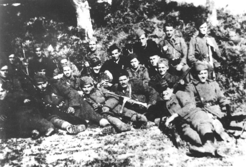 Partizani 9. krajiške brigade koji su čuvali i sprovodili zatvorenike u logoru Glates