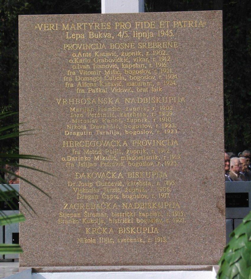 Popis do sad poznatih svećenika pobijenih na Macelju