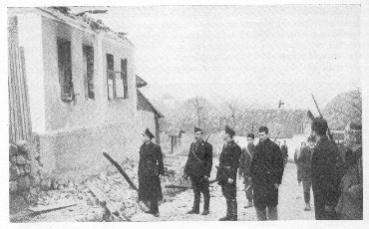 Selo Koraj nakon sto su četnici i partizani uništili cijelo selo.