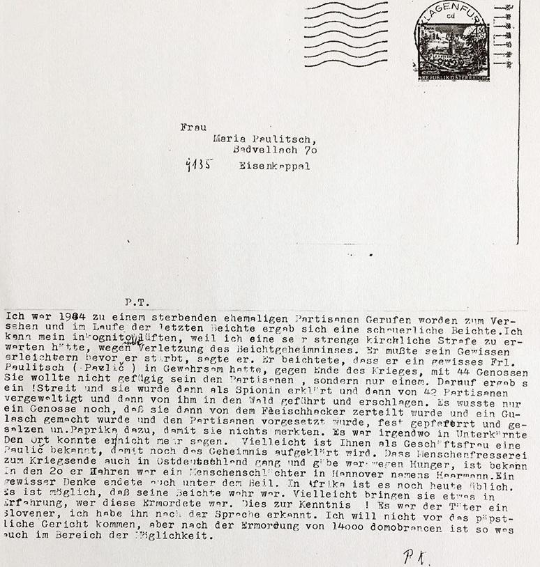 Kopija izvornog pisma