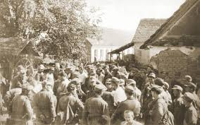 Domobrani koji su se predali, u Slavonskoj Požegi, 1944.