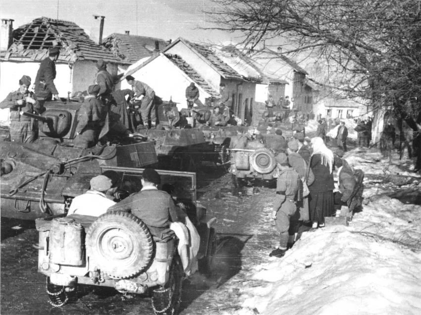 Partizani 29. hercegovačke divizije nakon ulaska u Nevesinje 1945.