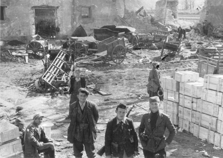 proleterske divizije u osvojenom italijanskom uporištu kod Jablanice