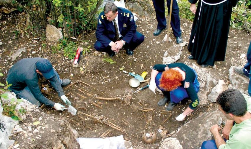 Iskapanja na prvoj lokaciji gdje su pronađena tri tijela