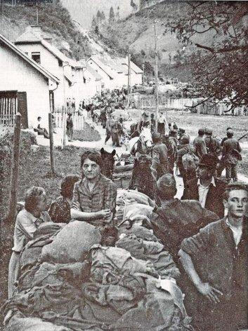 11. Bijeg civila pred partizanima u Sloveniji Bijeg civila pred partizanima u Sloveniji Izvor Wikimedia Commons Autor Wikimedia Commons