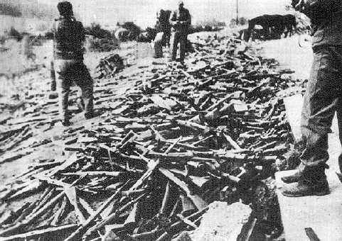 83. Oružje koje je predala Hrvatska vojska saveznicima na Bleiburgu