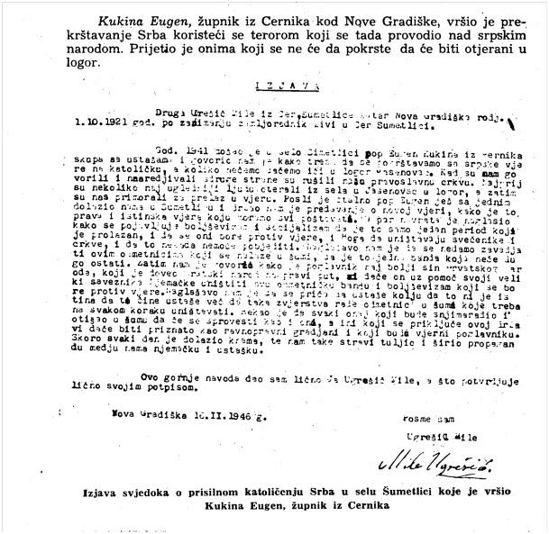 Preslik iz knjige Dokumenti o protunarodnom radu i zločinima jednoga dijela katoličkog klera