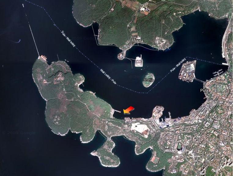 Položaj Vregarole pogled Google earth