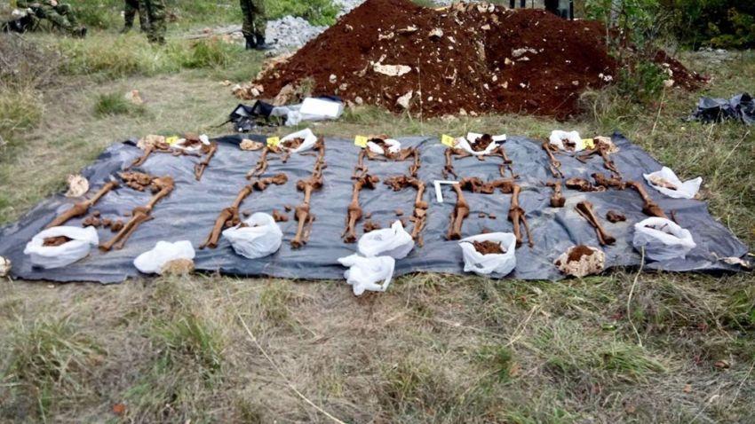 Tijela ekshumirana na području općine Zagvozd