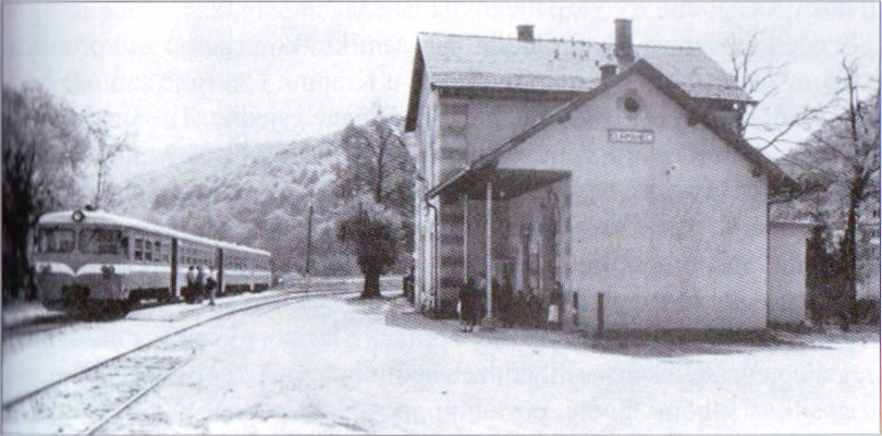 Zadnja željeznička postaja prije posljednjeg sabirališta na pilani u Đurmancu odakle su zarobljenici vođeni na stratište u Maceljsku šumu