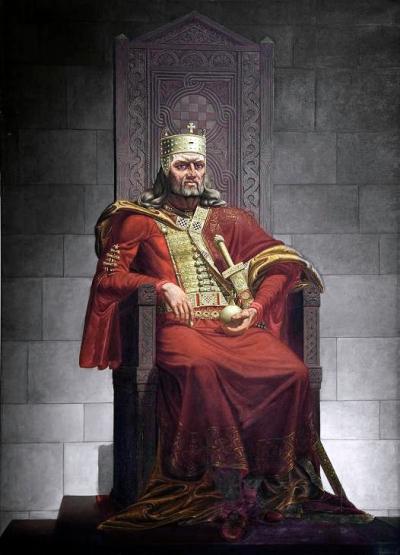 Kralj Tomislav na prijestolju