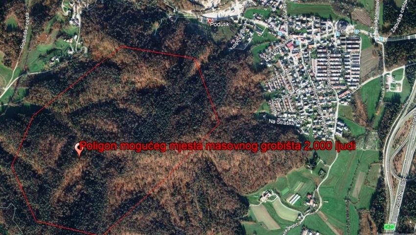 Podutik lokacija masovnog grobišta