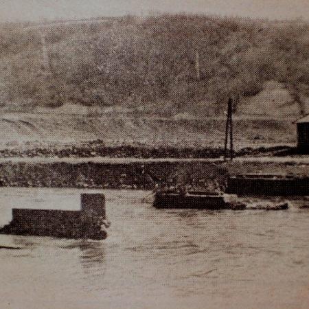 Mjesto starog mosta u Kaknju na Savi